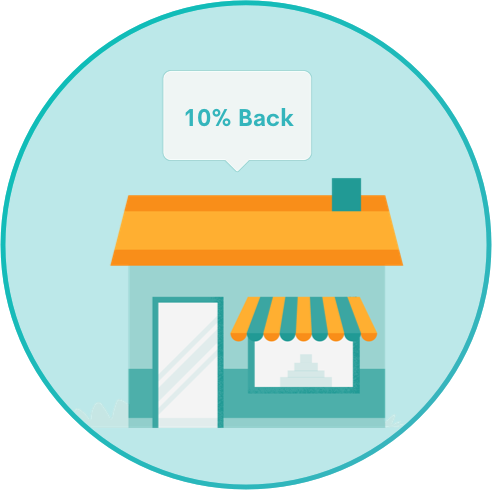 In Store Cashback Percentage Icon