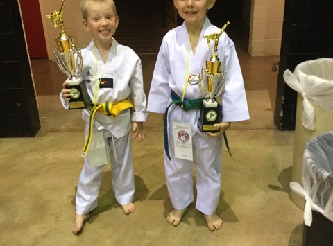 martial arts fundraising - Braxton and Cooper Taekwondo Nationals