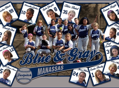 8U Manassas Blue and Gray