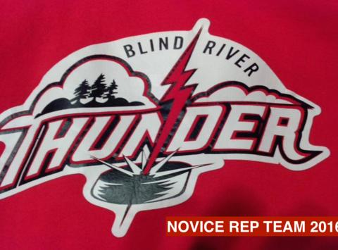 ice hockey fundraising - The Blind River Novice Thunder Rep Team