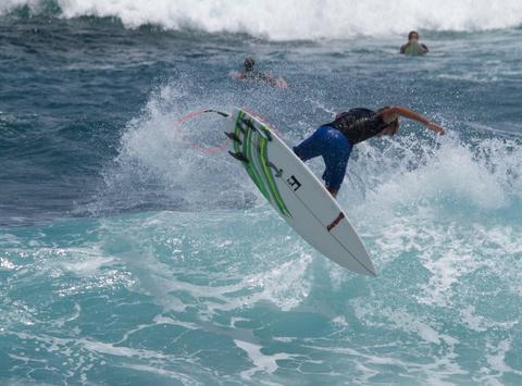 surf fundraising - Reece Leonard