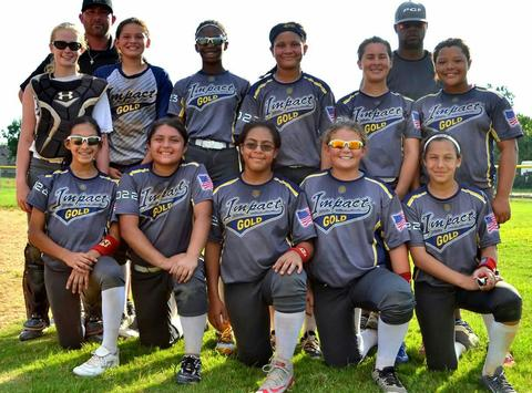 softball fundraising - Impact Gold National - Spencer 12U