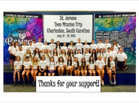 mission trips fundraising - St. Jerome Teen Mission Trip
