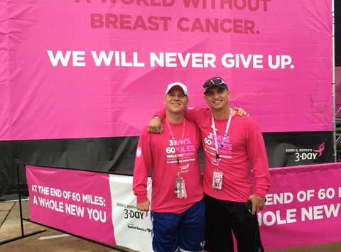 breast cancer fundraising - Team Blondie